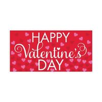 HAPPY VALENTINES DAY BANNER PARTY DECORATION POSTER LOVE HEARTS LARGE 85 x 165cm