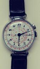 antique Aero Chronostop movabel lugs enamel dial mens swiss watch 1930