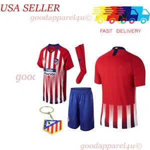 Atletico Madrid Kids Jersey Kit Age 5-13 Yrs