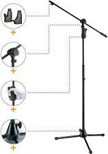 Hercules MS632B 2 in 1 Boom Microphone Stand. Includes Hercules Mic Clip