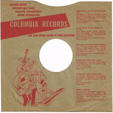 """1940s 10"""" inch Green Jazz Dance Columbia Records Record SLEEVE ONLY 78 RPM"""