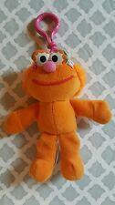 Sesame Street ZOE PLUSH Muppet Beanbag TYCO 1997 Keychain Henson Orange p5