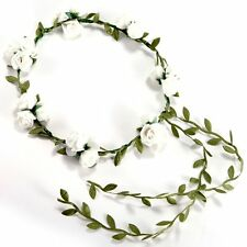 K9 Flower banquet Hair Accessories Wedding Floral head garland Headband White