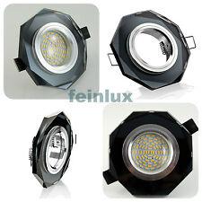 Kristall LED GU10 2W Einbaulampe Einbauleuchte Einbaustrahler schwarz eckig 230V