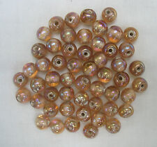 50grams of ROUND CHAMPAGNE LUSTRE GLASS BEADS 9.5mm