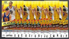 2013-2014 NBA GOLDEN STATE WARRIORS FULL BASKETBALL PLAYOFF TICKETS ALL 16 TIX