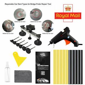 22PCS PDR Dent Paintless Repair Hail Removal Tools Kit Puller Bridge/6×Tabs Set