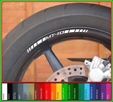 8 X Rueda Llanta Adhesivos calcomanías Yamaha MT10 - 20 Colores-Mt 10 mt-10 SP mtm1000d