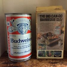 Vintage Budweise Can Can Do Fold Out Bbq Barbeque Tailgate Picnic Grill Smoker