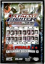 UFC Official Auto Poster 26x40 The Ultimate Fighter TUF 8 Nogueira vs Mir 45/125