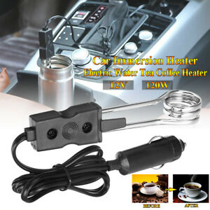Water Heater Car Immersion Coffee Tea 12V Electric Portable Auto Hot Boiler
