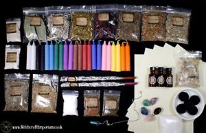 Practitioner's Large Witch Kit Spell Set of Herbs,Candles,oils,Wiccan,Pagan