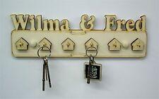Six Hook Pesonalised Wooden Key Holder Wedding Gift Household Gift  yn6
