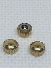 Cheap Price 3 Pcs Swiss Watch Crown Silver Size 1.20*5.95*3.29 Push Button #cr018# Movements