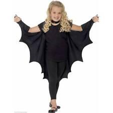 KIDS Black Vampire BAT WINGS CAPE Girls Boys Halloween Fancy Dress Costume