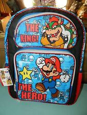 Boys Super Mario School Backpack Medium Book Bag
