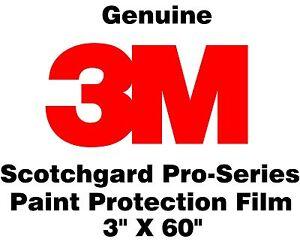 "3M Scotchgard Pro Series Paint Protection Film Clear Bra Bulk Roll 3"" x 60"""