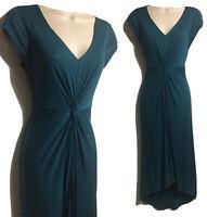 KENNETH COLE Bohemian Long Dress Modal Jersey Draped Twist Boho Quirky UK 8 XS