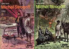 Michel STROGOFF - Tomes: I - II // Jules VERNE // Bibliothèque Verte // Lot