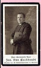 bidprentje-Jozef Cornelius VAN EECKHOUDT pastoor Essen -Boom 1872-Antwerpen 1910