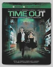 COFFRET STEELBOOK BLU-RAY + DVD / TIME OUT (JUSTIN TIMBERLAKE,AMANDA SEYFRIED)