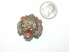 Lion Head Metal Pin over 1 inch wide (8750)