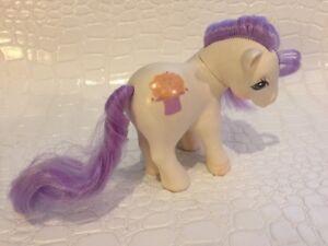 Vintage My Little Pony G1 MAGIC HAT Magic Message Ponies White/ Purple Hair