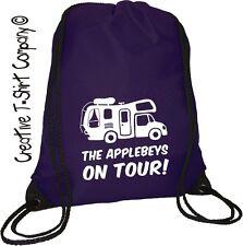 Personalised Motorhome On Tour Drawstring Bag, Ace Campervan Camping Xmas Gift.