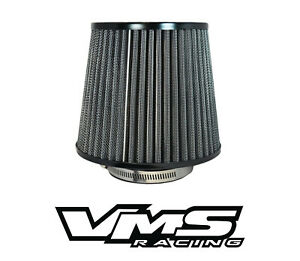 "VMS RACING BLACK 3"" INTAKE HIGH FLOW AIR FILTER FOR MITSUBISHI ECLIPSE MIRAGE"