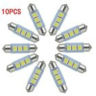 10 X White 36MM 3 LED 5050 SMD Festoon Dome Car Light Interior Lamp Bulb 12V New