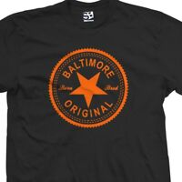 Baltimore Original Inverse T-Shirt - Born and Bred in Made Tee All Size & Colors