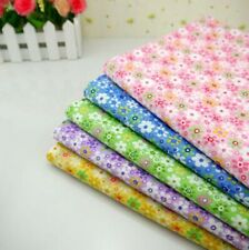 Hot One PCS Floral Fabric Plain Fabric Pre-Cut Cotton Fabric For Sewing #L