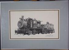 Vintage Framed Limited Edition Frederick W. Bartlett Steam Locomotive Print