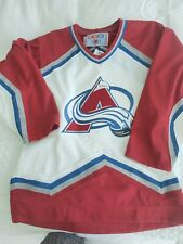 Colorado Avalanche CCM NHL Hockey Jersey Size Small Men's White Red