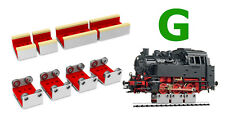 4 X G SCALE ROLLERS W/WHEEL CLEANING ACCESSORIES