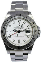 Rolex Explorer II Steel White Dial Mens 40mm Automatic Watch F 16570 Unpolished