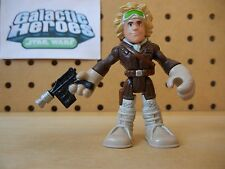 Playskool Star Wars Galactic Heroes / Jedi Force HOTH HAN SOLO Brown Snow Gear
