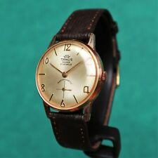 TANUS Gold Plated Vintage 1960s Watch FE 233-60 Montre Orologio Reloj Uhr France