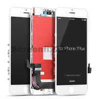 iPhone 7 Plus LCD Display Touch Screen Digitizer Replacement - white + Protector