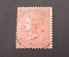 1865 4D VERMILION QV PLATE 12 VFU