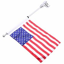 Motorcycle Rear US Flag Pole Luggage Rack Mount USA American For Honda GL1800