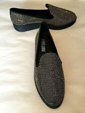 Bibi Lou Women's Shoes Black Gold Studs Loafer 1.5