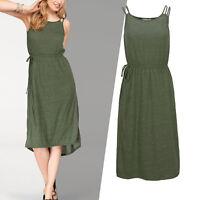 genial Marken Kleid Gr.36/38 S/M Wickel Sommerkleid Jersey Shirtkleid KHAKI