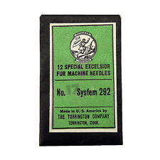 Pack of 12 Special Excelsior Fur Machine Needles, System 292, Size 17
