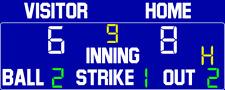 ScoreBoards.com BA-7209-LED Baseball Scoreboard (4' x 9') Hybrid