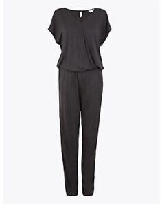 M&S Playsuit Ultra Comfort Jersey Wrap Short Sleeve Jumpsuit Sleepwear 18 14 12