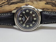 USED 1960'S BREITLING BLACK DIAL MANUAL WIND MAN'S WATCH