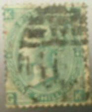 GB QUEEN VICTORIA 1/- GREEN SG 101 PLATE 4 USED
