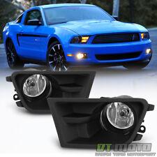 Glass Lens 2010 2011 2012 Ford Mustang Bumper Fog Lights Driving Lamp Left+Right