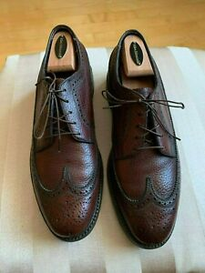 FLORSHEIM IMPERIAL BURGUNDY LEATHER LONGWINGS SIZE 8.5 D 31881 Varsity